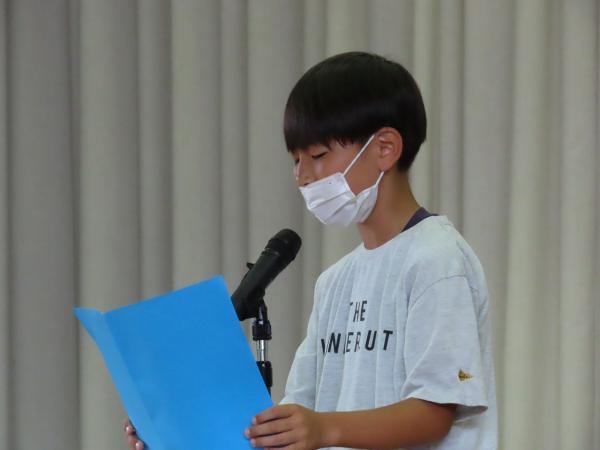 4年代表児童発表