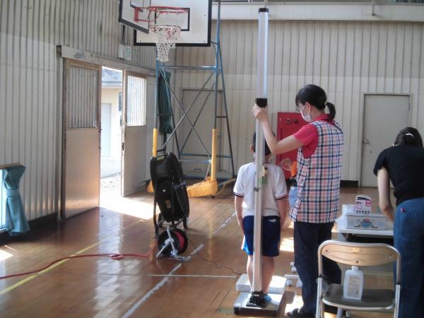 第2学期の始業式と体位測定を行いました