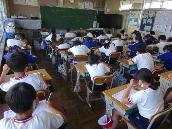 第4学年 都道府県テストの様子
