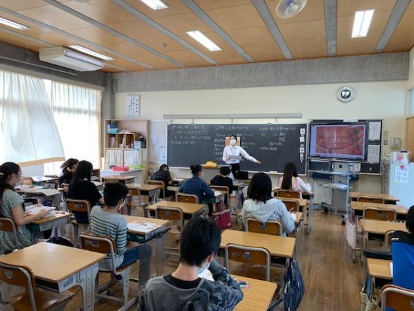 教育実習生飯塚先生の授業~分散登校B班~